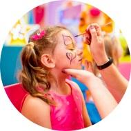 Wynajem stanowiska z malowaniem twarzy dla dzieci