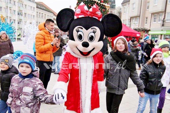 WERTINI Świąteczna żywa maskotka Myszka Minnie