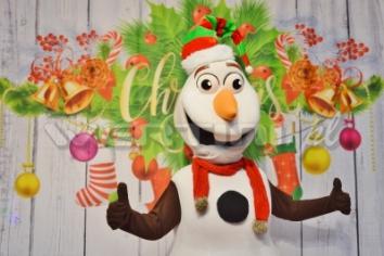 Bałwan Olaf, świąteczna żywa maskotka do wynajęcia
