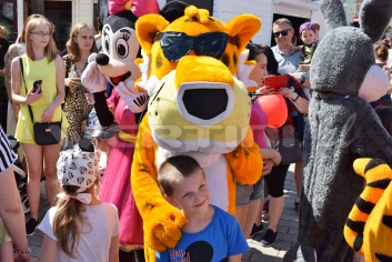Gepard Chester żywa maskotka do wynajęcia