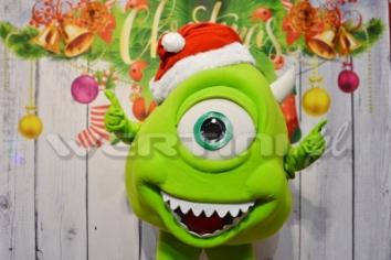 Mike Wazowski, świąteczna żywa maskotka do wynajęcia