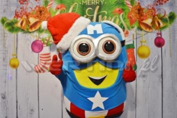 Minionek, świąteczna żywa maskotka do wynajęcia