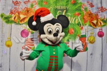 Myszka Miki, świąteczna żywa maskotka do wynajęcia