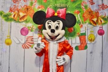 Myszka Minnie, świąteczna żywa maskotka do wynajęcia