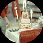 Tort z okazji urodzin sklepu