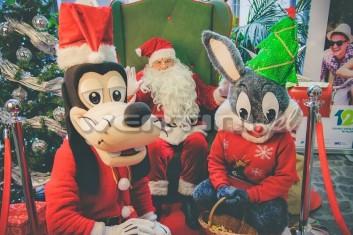 Świąteczna żywa maskotka Królik Bugs, Goofy