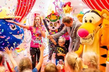 Tygrysek na otwarciu sali zabaw dla dzieci