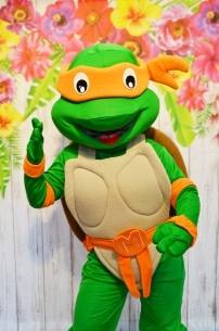 Żółw Ninja, chodząca żywa maskotka z bajki Wojownicze Żółwie Ninja