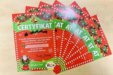 Certyfikat Elfa 'Grzecznego dziecka'