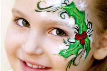 Malowanie twarzy dla dzieci na Mikołajki