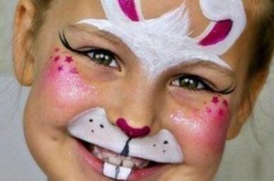 Malowanie twarzy zajączek wielkanocny