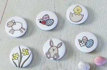 Wielkanocne przypinki dla dzieci